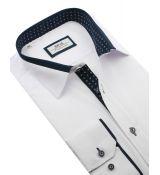 7159e742e3fc Nové Bielo-modrá trendová slim košeľa BEVA 2K139