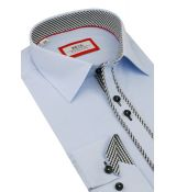 9c60eb39f839 Modrá biznis košeľa BEVA KLASIK 2K246